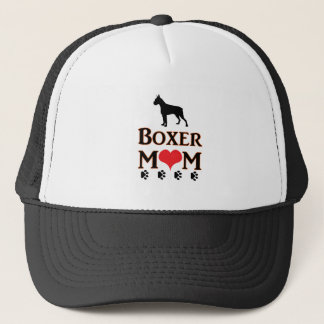 boxer mom trucker hat