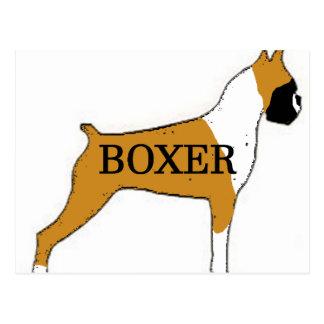 Boxer name silo color postcard