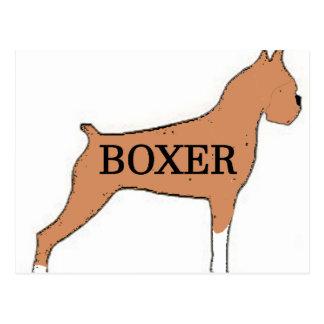 Boxer name silo fawn postcard