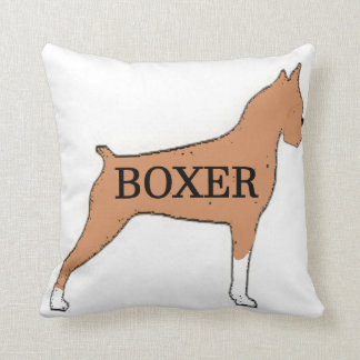 Boxer name silo fawn throw pillow