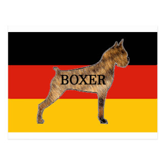 boxer name silo on flag brindle postcard