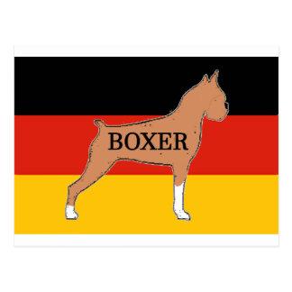 boxer name silo on flag fawn postcard