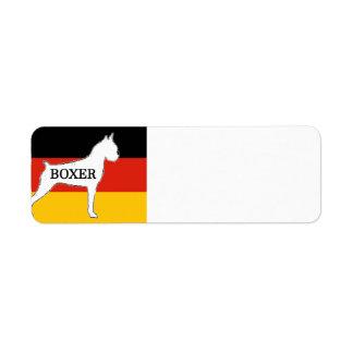 boxer name silo on flag white