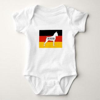 boxer name silo on flag white baby bodysuit