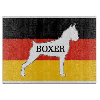 boxer name silo on flag white boards