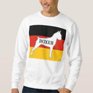 boxer name silo on flag white sweatshirt