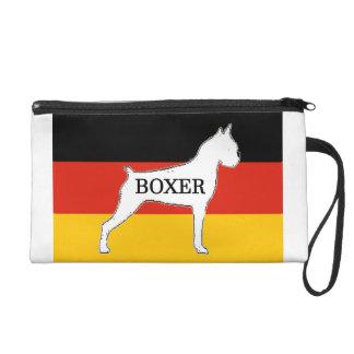 boxer name silo on flag white wristlet