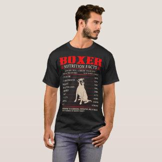 Boxer Nutrition Facts Stubbornness Mischief Tshirt