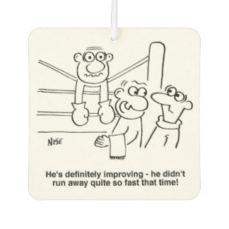 Boxer On the Ropes Cartoon Air Freshener