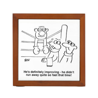 Boxer On the Ropes Cartoon Desk Organizer