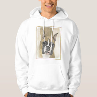 Boxer Painting - Cute Original Dog Art Hoodie