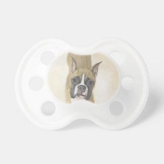 Boxer Painting - Cute Original Dog Art Pacifier