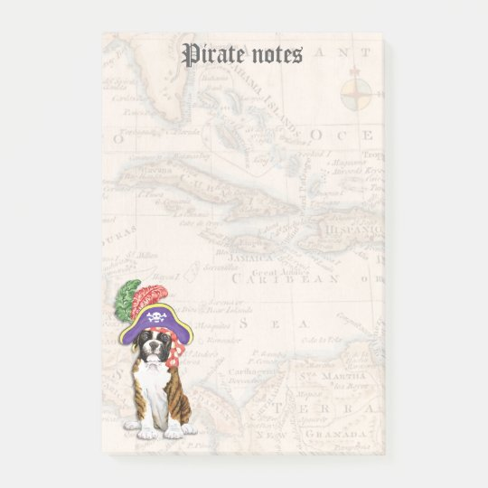 Boxer Pirate Post-it Notes