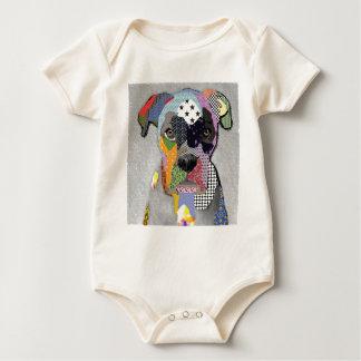 Boxer Portrait Baby Bodysuit