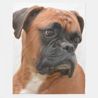 Boxer Portrait Fleece Blanket