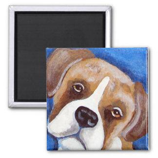 Boxer Portrait Magnet