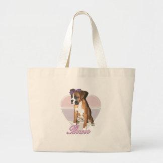 Boxer pup love bag