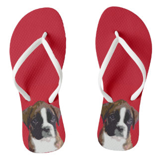 Boxer puppies flip flop sandals flip flops