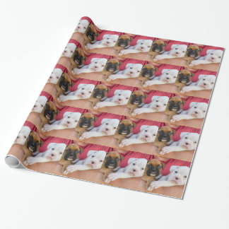 Boxer Puppies Wrapping Paper