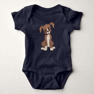 Boxer puppy baby bodysuit