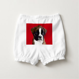 Boxer puppy diaper cover