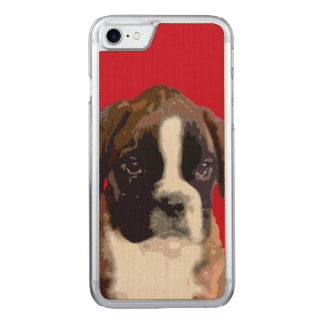 Boxer puppy dog carved iPhone 7 case