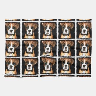 Boxer puppy dog kitchen towel