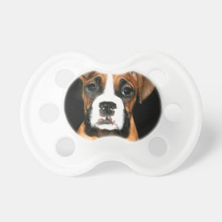 Boxer puppy dog pacifier