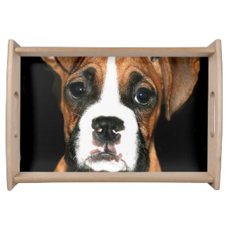 Boxer puppy dog serving tray
