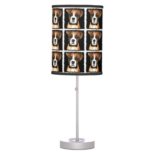 Boxer puppy dog table lamp