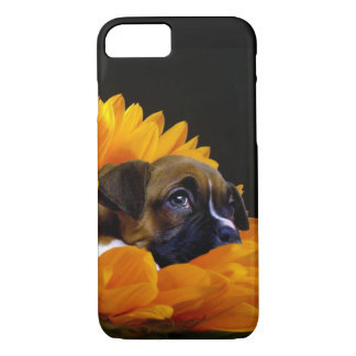 Boxer puppy in sunflower iphone 7 case