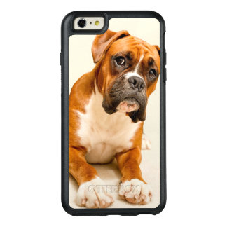 Boxer puppy on ivory cream backdrop. OtterBox iPhone 6/6s plus case