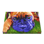 Boxer Puppy on Wrapped Canvas