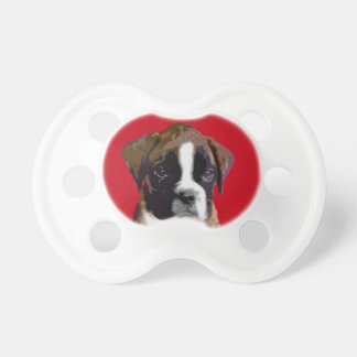 Boxer puppy Red Pacifiers