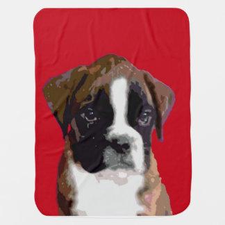 Boxer puppy stroller blankets
