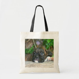 Boxer puppy tote bag