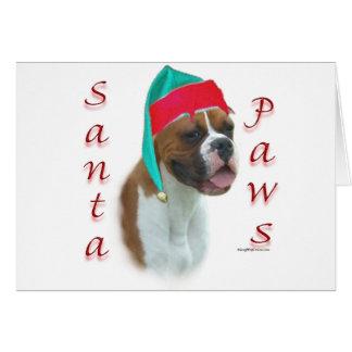 Boxer Santa Paws Card
