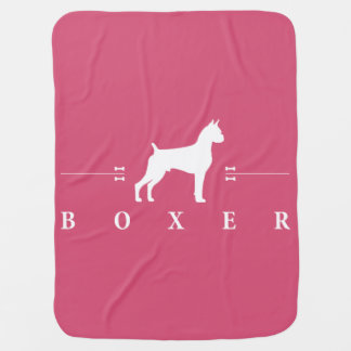 Boxer silhouette -1- baby blanket
