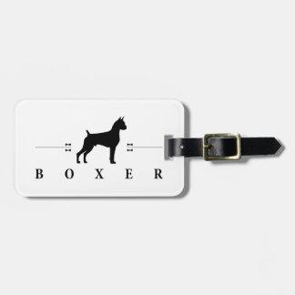 Boxer silhouette -2- luggage tag