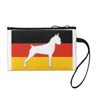 boxer silo on flag white coin purse