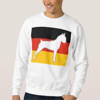 boxer silo on flag white sweatshirt