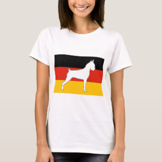 boxer silo on flag white T-Shirt