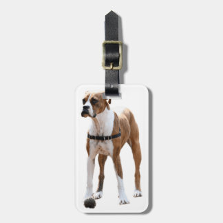 Boxer Standing Tall Luggage Tag