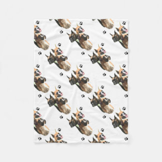 Boxer Trio Fleece Blanket