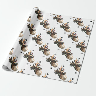 Boxer Trio Wrapping Paper