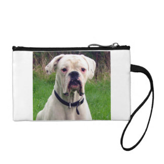 Boxer white coin purse