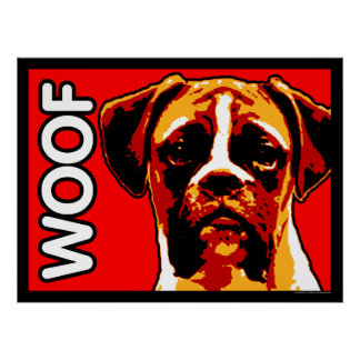 Boxer WOOF Poster