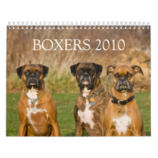 BOXERS 2010 WALL CALENDARS
