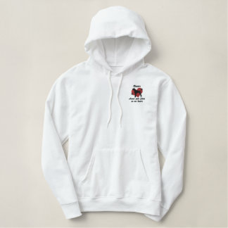 Boxers Leave Paw Prints Embroidered Hoodie