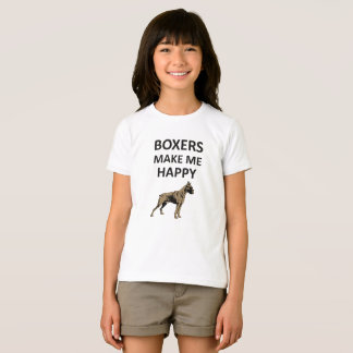 Boxers Make Me Happy, Boxer Breed Dog Lovers Shirt